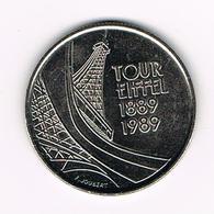 &-  FRANKRIJK  5 FRANCS  1989  TOUR  EIFEL - France