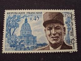 """70-79- Timbre Oblitéré N°  1630  """"alphonse Juin, Maréchal De France   """"     0.30 - France"""