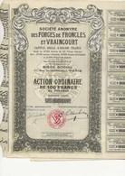 LOT DE 3 ACTIONS DES FORGES DE FRONCLES ET VRAINCOURT -DEPT 52 -   1924 - Industrie