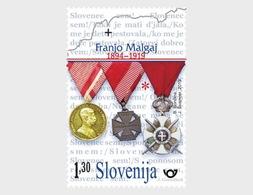 Slovenië / Slovenia - Postfris/MNH - 100 Jaar Dood Franjo Malgaj 2019 - Slovenië