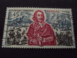 """70-79- Timbre Oblitéré N° 1655   """" Richelieu Devant La Rochelle  """"  0.40 - France"""