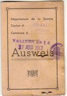 AUSWEIS  AMIENS 1942 - Documents Historiques