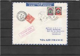 Algerie 1947- Ffc Bone To Marseille (Ref 926) - Algeria (1924-1962)