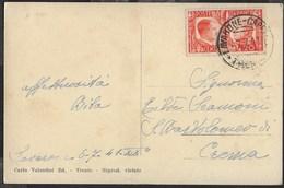 STORIA POSTALE REGNO - ANNULLO DC LAVARONE-CAPPELLA/TRENTO 07.07.1941 SU CARTOLINA - FRATELLANZA 20 CENT ISOLATO - Marcofilie
