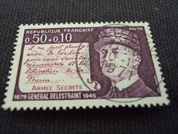 """70-79- Timbre Oblitéré N°  1689 """"  Général Delestraint """"   1 Euro - France"""