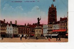Dunkerque La Place Jean Bart  ( Beffroi , Café , Machine à Coudre Singer , Banque Société Générale... - Dunkerque