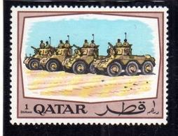 QATAR 1969 SECUTIY FORCES ARMY ARMOURED VEHICLES ESRCITO FORZE MILITARI CARRI ARMATI 1d MNH - Qatar