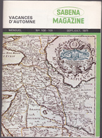 SABENA  Magazine - Mensuel N°108-109 - 1971 - Vacances D'automne - Aviation