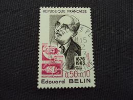 """70-79- Timbre Oblitéré N°  1708  """" Edouard Belin  """"  0.30 - Used Stamps"""