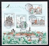 FRANCE 2018 Bloc - Capitales Européennes Tallinn Oblitéré Cachet Rond - France