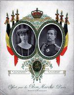 Ancien Chromo  Au Bon Marché-S.M.Elisabeth & S.M. Albert Reine Et Roi Des Belges. - Au Bon Marché