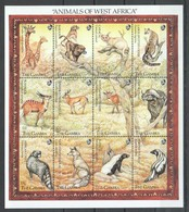 M457 GAMBIA FAUNA ANIMALS OF WEST AFRICA 1SH MNH - Stamps