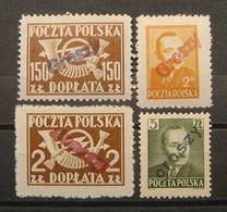 """Polen Markenlot Aufdruck """"Groszy"""" 1948 - 1950 ** Postfrisch    (A27a) - Ungebraucht"""