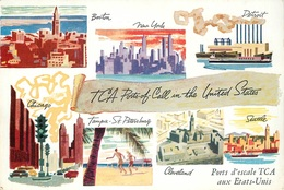 TCA PORTS OF CALL IN THE UNITED STATES - TRANS-CANADA AIR LINES #87450 - Aviation