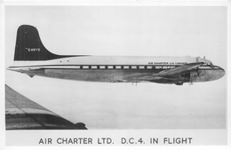 D. C. 4 IN FLIGHT - AIR CHARTER LTD ~ AN OLD PHOTO #87446 - 1946-....: Ere Moderne