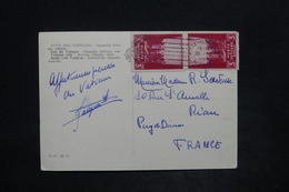 VATICAN - Affranchissement Sur Carte Postale Pour La France En 1946 - L 25880 - Lettres & Documents