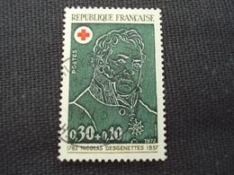"""70-79- Timbre Oblitéré N° 1735   """" Nicolas Desgenettes  """"    0.40 - France"""