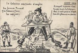 CPA Satirique Politique Guerre 14 Belgique Colosse Aux Pieds D'argile Texte En Partie Catalan Edit Campistro Perpignan - Satiriques