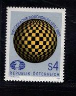 740418269  POSTFRIS  MINT NEVER HINGED EINWANDFREI SCOTT 1323 WORLD CHESS FEDERATION CONGRESS GRAZ - 1945-.... 2ème République