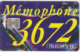 TELECARTE 50 UNITES  -  3672 LE MEMOPHONE - Telefoni