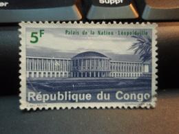 Timbre  République Du Congo Palais De La Nation Léopoldville 5 F Oblitéré - République Du Congo (1960-64)