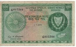 CYPRUS   500 Mils      P42b     1.7.1975 - Cyprus
