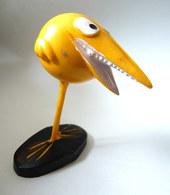 RARE FIGURINE ORTF JIM SHADOK JAUNE ORANGE  - SHADOKS 1969 - Figurines
