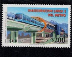 740422658  POSTFRIS  MINT NEVER HINGED EINWANDFREI SCOTT 1207 OPENING OF METRO LINE 5 - Chili