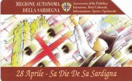 SCHEDA TELEFONICA  SA DIE DE SA SARDIGNA  SCADENZA 30/06/1998 USATA - Openbaar Speciaal Over Herdenking