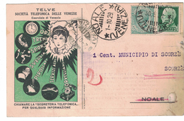 CARTOLINA CARTE POSTALE  TELVE SOCIETA' TELEFONICA DELLE VENEZIE - Pubblicitari