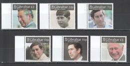 M496 GIBRALTAR ROYALS CHARLES PRINCE OF WALES #1879-84 !!! MICHEL 18.8 EURO !!! 1SET MNH - Familles Royales