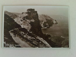 Black And White  Postcard -  Cliff Walk, Lynton, Devon - Lynmouth & Lynton