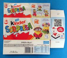 KINDER SORPRESA MINIONS IN VIAGGIO ITALY SCATOLA BOX CONFEZIONE 3 PEZZI - Kinder & Diddl