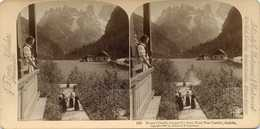 Austria ~ MONTE CRISTALLO FROM HOTEL POST LANDRO ~ Stereoview Jfjau42 - Stereoscopio