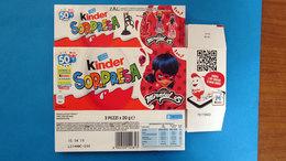 KINDER SORPRESA MIRACULOUS ITALY SCATOLA BOX CONFEZIONE 3 PEZZI - Kinder & Diddl