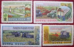 USSR  Russia  1954  Agriculture   4 V MNH OG - 1923-1991 URSS