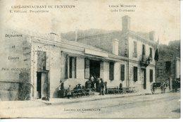 935. CPA 33 CENON MONREPOS PRES BORDEAUX. CARTE EN PARTIE DEDOUBLEE. CAFE RESTAURANT DU PRINTEMPS 1904 - Francia