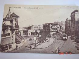 C.P.A.- Biarritz (64) - Avenue Edouard VII - Tramway - 1935 - SUP (BA24) - Biarritz