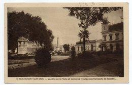 ROCHEFORT SUR MER--1941--Jardins De La Poste Et Lanterne (vestiges Des Remparts De Vauban)--timbre --cachet - Rochefort