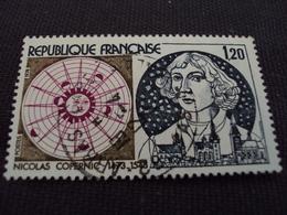 """70-79- Timbre Oblitéré N°1818    """" Nicolas Copernic  """"     0.25 - France"""