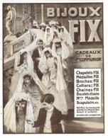 """PUB BIJOUX  """" FIX """"   1912 ( 3 ) - Autres"""