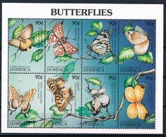 Bloc Sheet Insectes Papillons Insects Butterflies Neuf  MNH **  Dominica 1997 - Papillons