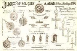 """PUB MEDAILLES   """" A. AUGIS """" ( GUERRE De 14/18 )   1915 ( 2 ) - Autres"""