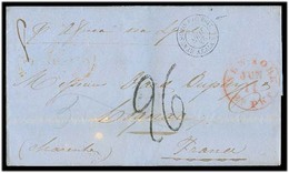 USA. 1856 (11 June). NY - France. EL With Text Endorsed Per Africa / Liverpool + French Entire. Etat Unis Pqbt Brit / A - Unclassified