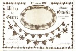 """PUB MEDAILLES / BIJOUX De GUERRE    """" ORNEFER """" ( GUERRE De 14/18 )   1915 ( 1 ) - Autres"""