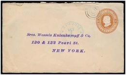 COSTA RICA. 1906. S Jose - USA. 10c Brown Stat Env. XF. - Costa Rica