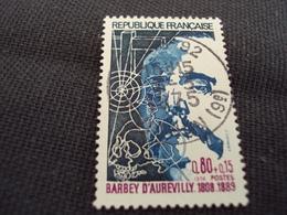 "70-79- Timbre Oblitéré N°   1823 ""  Jules Barbey D'aurevilly ""   0.40 - Used Stamps"
