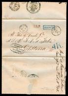 Italy - Prephilately. 1862 (28 Nov). Genova - Gibraltar (6 Dec). EL Dissinfection Cachet Reverse Sanita + Spanish, Frenc - Italy