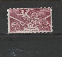 Saint Pierre & Miquelon Neuf * 1946  Poste Aérienne N° 11  Anniversaire De La Victoire - Ongebruikt