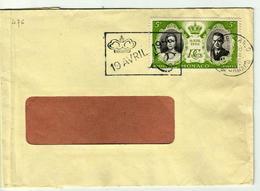 MONACO - Lettre Oblit. 19 Avril 1956  -n° 476 - Marcophilie - EMA (Empreintes Machines)